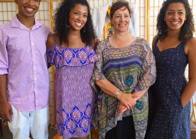 Patience and family at her Mitra ceremony