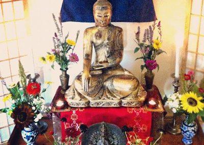 The Buddha amongst the flowers