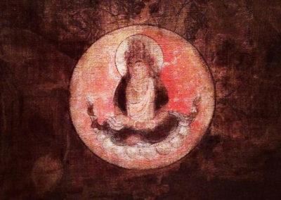 Little fire Buddha