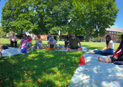 Outdoors summer sangha